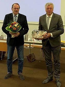 Verbandsvorsteher Thoma Gemke und Leiter der Verbandsversammlung Dr. Jürgen Wutschka